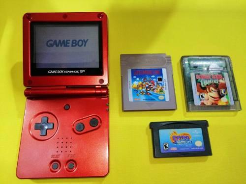 Consola Gameboy Advance Sp Con Un Juego A Escoge
