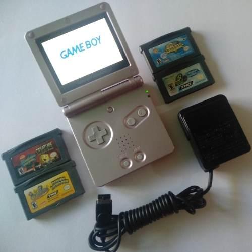 Game Boy Advance Sp Doble Luz + Juegos