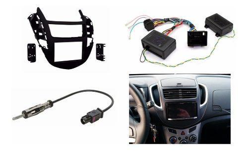 Kit Frente 2din Volante Arnes Antena Chevrolet Trax 2013-16