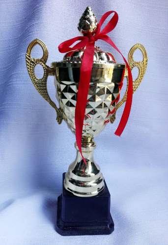 Trofeo Copa Premio 27cm Plástico Futbol Torneo Cars