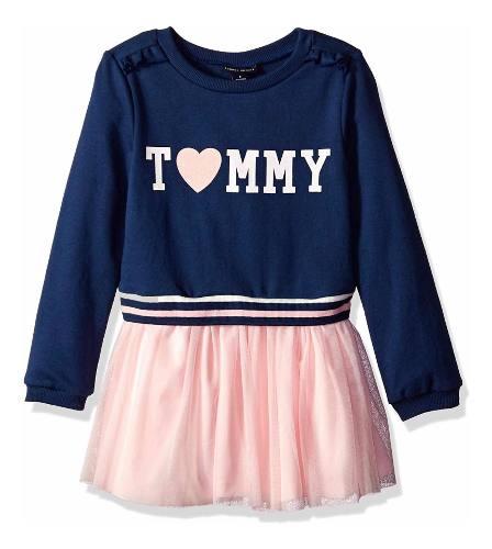 Conjunto Vestido Para Niña Tommy Hilfiger Azul Rosa