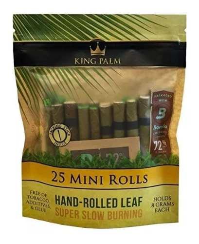 King Palm Mini 25 Blunts Prerolados Orgánicos Filtro De