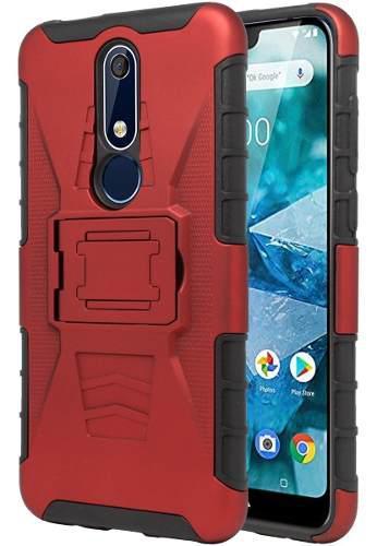 Funda Clip + Cristal Protector Nokia 5.1 Plus / X5 Ta-1112