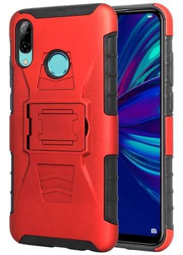 Funda Clip + Cristal Uso Rudo Huawei P Smart 2019 Pot-lx3