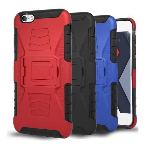 Funda Clip + Cristal iPhone 4s 5s Se 6s 7 8 Plus X Xr Xs Max