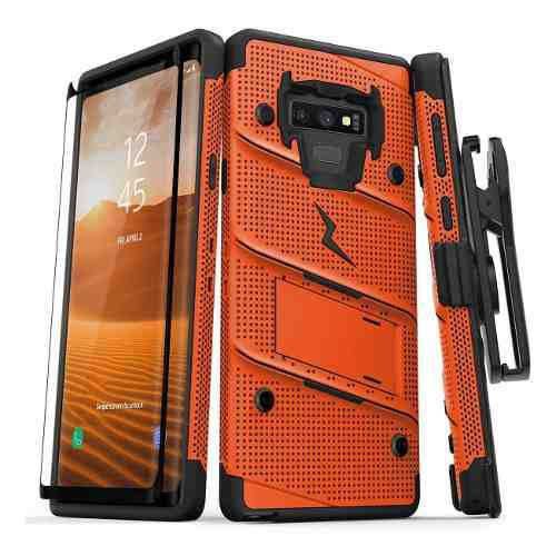 Funda Protector Rudo Clip Samsung Note 9 Glass Curvo Inclui