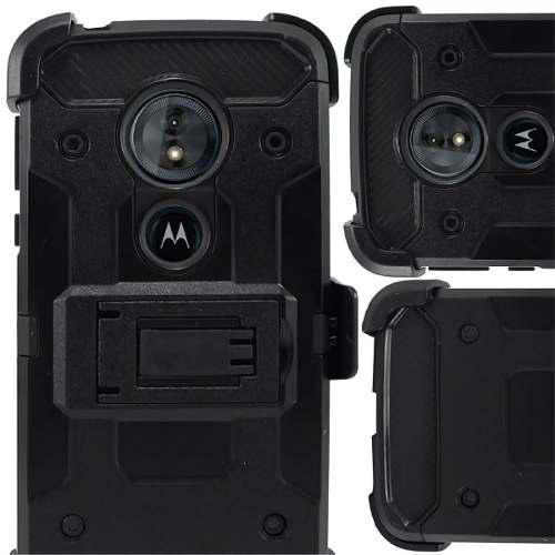 Funda Uso Rudo Clip Motorola C Plus + Mica