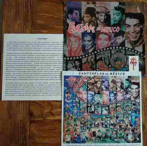 Mexico  Cantinflas Planilla 50 Timbres + Carpeta, Ensayo
