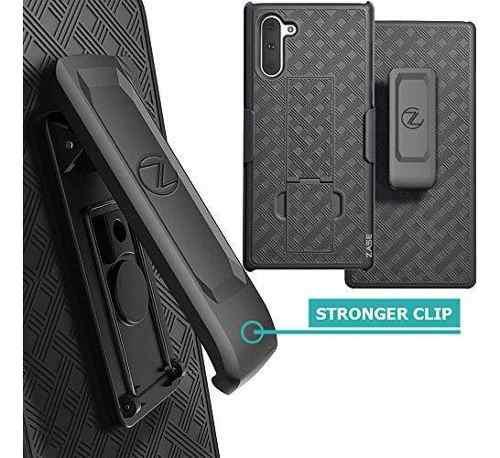Zase Note 10 Plus - Funda Con Clip Para Cinturón Compatible