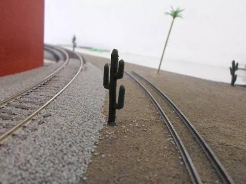 10 Cactus Para La Maqueta De Tren Escala Ho 1/87 Goma
