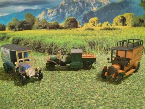 Are Tren Ho Marklin Museum Set 3 Vehiculos Metal Con Envio