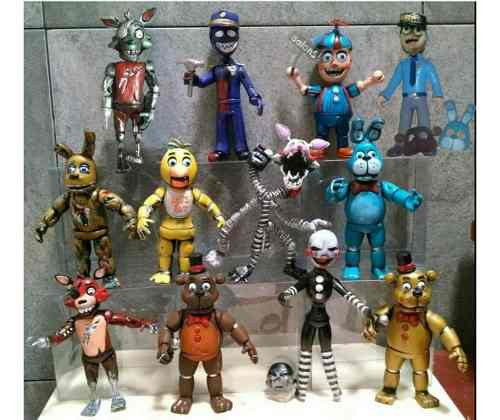 Five Nights At Freddy's Colección 12 Muñecos Articulados