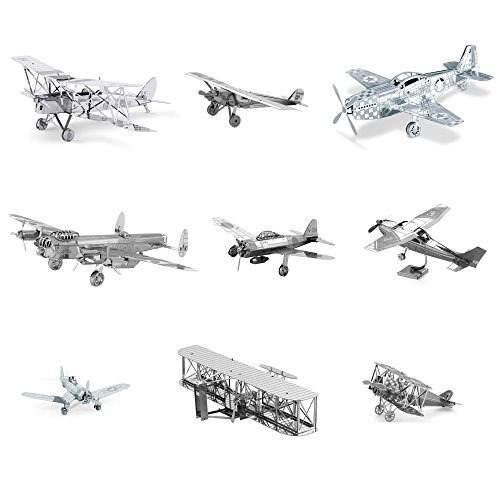 Kits De Modelo 3d De Tierra Metal Conjunto De 9 Aviones Spir