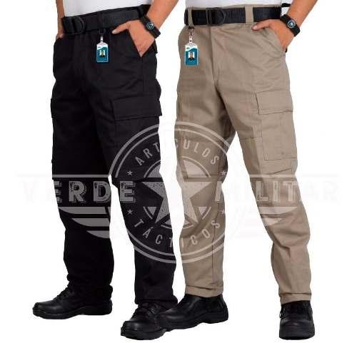 Pantalon Tactico Militar Gabardina Reforzado Bolsas Comando