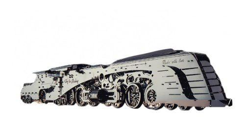Tren De Vapor Armar Acero Bloques Juguete Modelismo Escala
