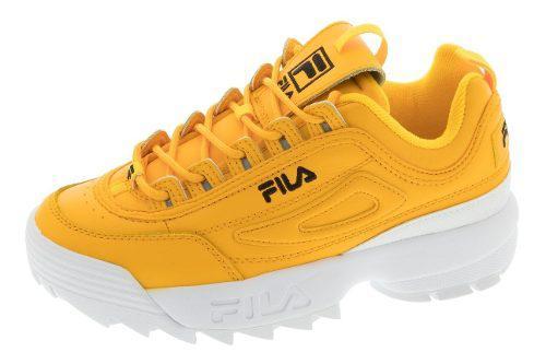 Tenis Casuales De Mujer Fila Disruptor Ii Premium Amarillos