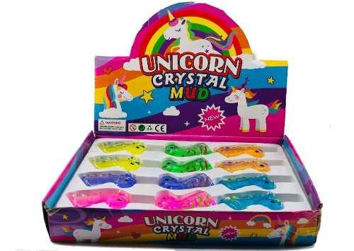 24 Slime Moco Gorila Unicornio Crystal Fiesta Piñata Evento
