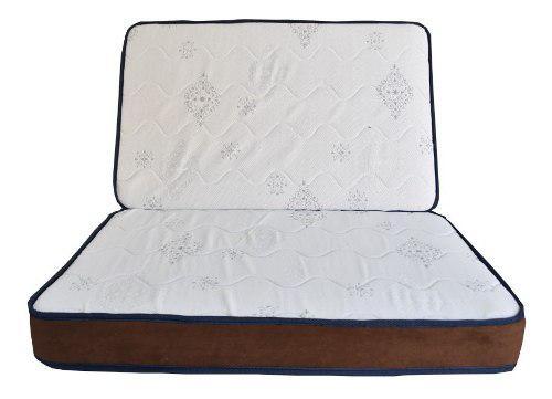 Colchón-colchoneta Queen Size 10 Cm Seccionada Funda Gratis