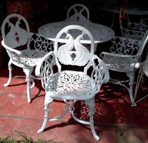 Comedor De Aluminio 4 Sillas Y 1 Mesa Para Jardín- Pavo