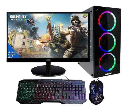 Pc Gamer Xtreme Amd A10 8800e 8gb 1tb Radeon Led 27 + Kit