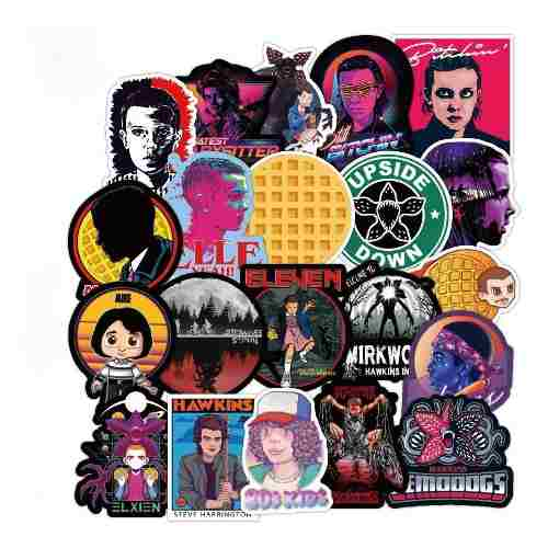 Stranger Things 100 Calcomanias Stickers Pvc Contra Agua