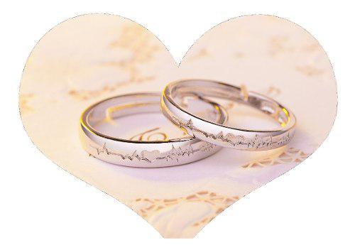 2 Anillos Promesa Plata 925 Amor Parejas Novios Corazón