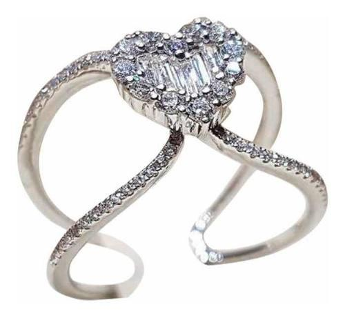 Anillo Compromiso Amor Corazón Swarovski Elements