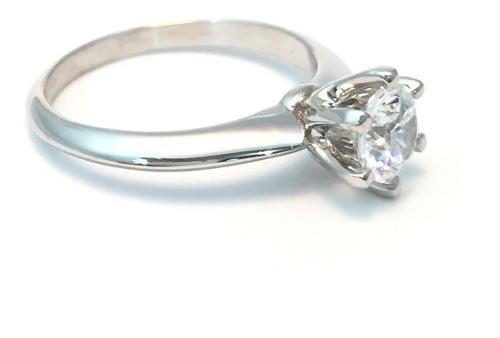 Anillo Compromiso Oro 18k Brillante Corte Diamante Cz