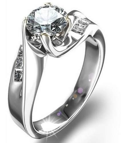 Anillo Compromiso Oro 18k Diamantes Natural.59ct Totales