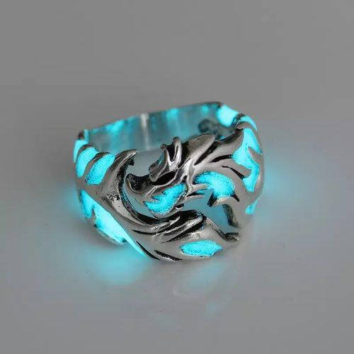 Anillo De Dragon Luminoso Y Ajustable