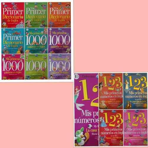 Disney, Mi Primer Diccionario De Ingles 14 Tomos, Coleccion