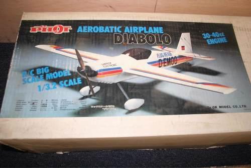 Avión Rc Diabolo Kit De Pilot Para Motores De 30 A 40 Cc