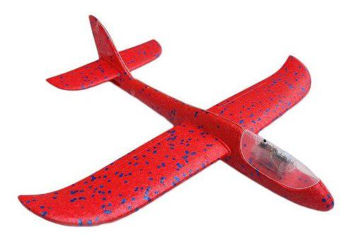 Avion Planeador De Vuelo Libre Con Luz Led Mygeektoy