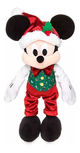 Disney Store Mickey Mouse Peluche Navidad 100% Original 38cm