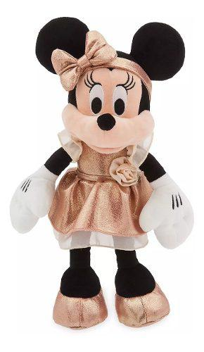 Disney Store Peluche Minnie Mouse Gold Rose 30 Cm, 2020