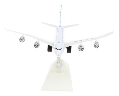 Juguete Infantil Modelo De Avión A380 De Aleación Ocn Luz
