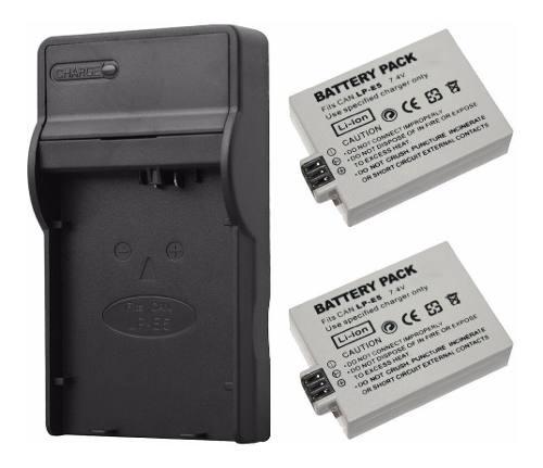 Kit De 1 Cargador Y 2 Baterias Para Canon Lp-e5 Xsi 450d