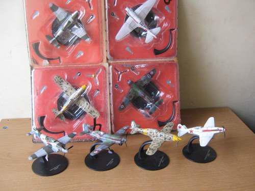 Paquete 4 Aviones 2da. Guerra Mundial, D Metal Altaya Escala
