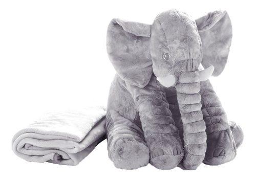 Peluche De Elefante Gigante Con Manta P/cumpleaños Navidad