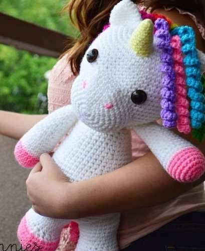 Unicornio Muñeco Amigorumi Crochet Tejido Mano