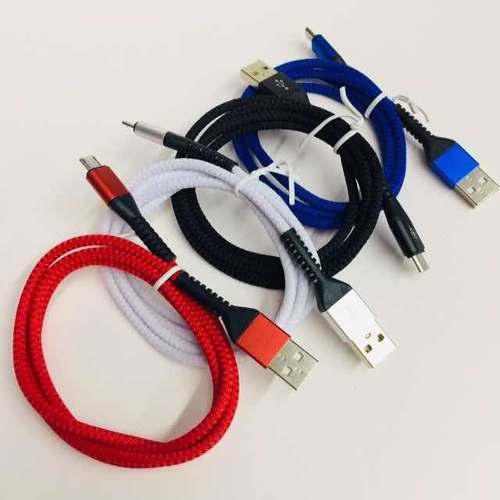 Cable Usb A V8 De Tela 90 Cm Modelo Ep25703