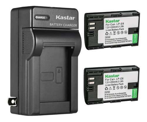 Cargador + 2 Baterías Lp-e6 Canon Eos 5d Mark Ii