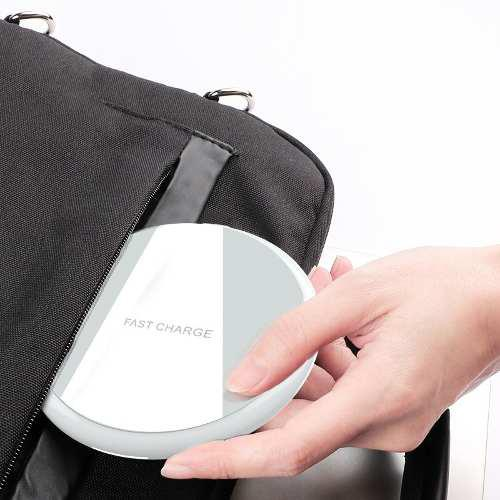 Cargador Inalambrico Qi Carga Rapida Cristal iPhone Android