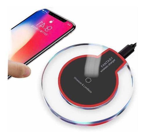 Cargador Inalambrico Qi Samsung S9 S8 iPhone X 8 Plus Y Mas