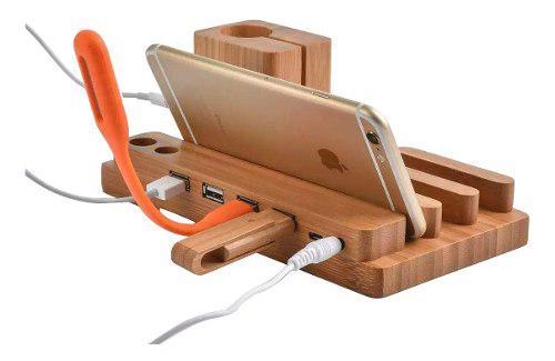 Dock Base De Carga Para Smartwatch Celular Tablet iPhone