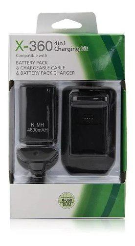 Kit Bateria Cargador Cable Carga Y Juega 4800mha Xbox 360
