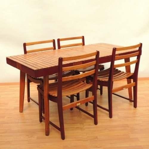 Mesa De Comedor 4 Sillas Muebles Domus Van Bueren Años 40s