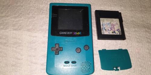 Nintendo Game Boy Color Verde Agua Con Tapa