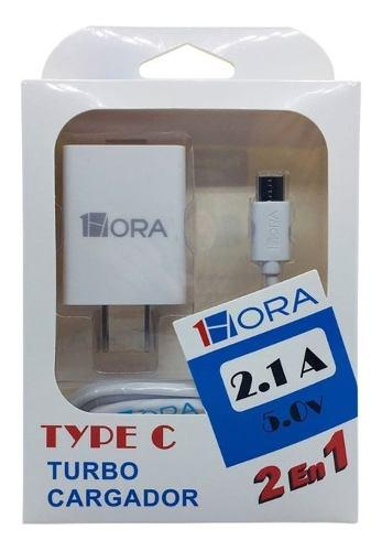 Turbo Cargador Usb 2 Amperes Cable Usb Tipo C 1hora Tipo C