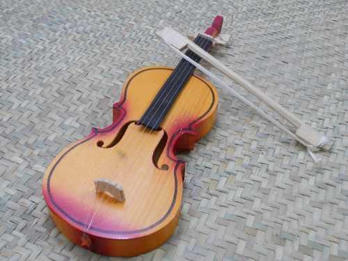Juguete De Violin De Madera Chico, Artesanía Mexicana